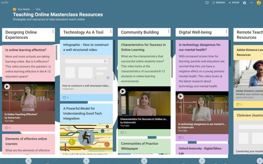 Teaching Online Masterclass Online Resources